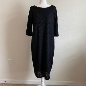 Pinkblush Black Lace Plus Size Maternity Dress